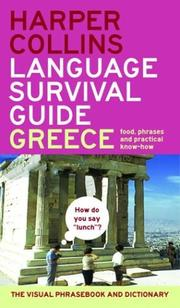 Cover of: Harpercollins Language Survival Guide: Greece