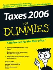 Cover of: Taxes 2006 For Dummies (Taxes for Dummies) | Eric Tyson, Margaret A.  Munro, David J.  Silverman