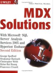 Cover of: MDX solutions with Microsoft SQL Server Analysis Services 2005 and Hyperion Essbase |