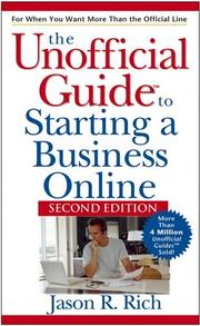 Cover of: Unofficial Guide to Starting a Business Online (Unofficial Guides) by Jason R. Rich