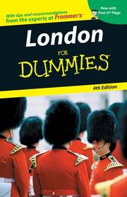 Cover of: London For Dummies (Dummies Travel) | Donald Olson