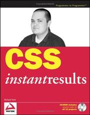 Cover of: CSS Instant Results (Programmer to Programmer) | Richard York