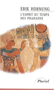 Cover of: L'esprit du temps des pharaons