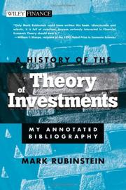 A History of the Theory of Investments: My Annotated Bibliography