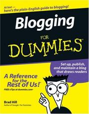 Cover of: Blogging For Dummies