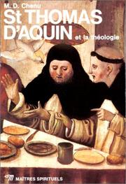 Cover of: Saint Thomas d'Aquin et la Théologie