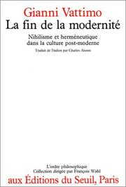 Cover of: La fin de la modernité