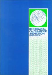 Cover of: Biochemical calculations