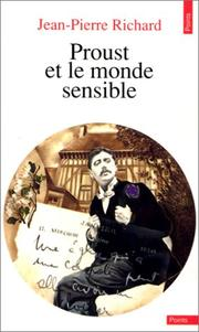 Cover of: Proust et le monde sensible