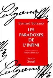 Cover of: Les paradoxes de l'infini
