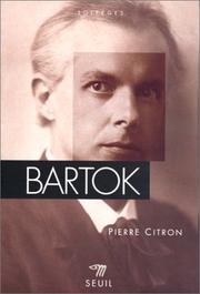 Cover of: Bartók