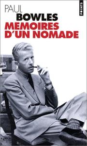 Cover of: Mémoires d'un nomade