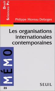 Cover of: Les organisations internationales contemporaines