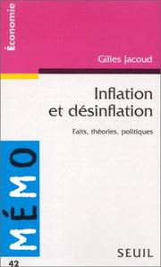 Cover of: Inflation et désinflation