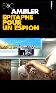 Cover of: Epitaphe pour un espion