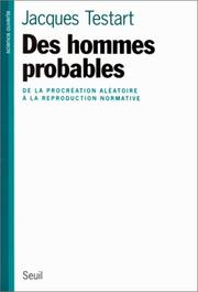 Cover of: Des hommes probables
