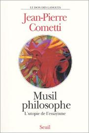 Cover of: Musil philosophe