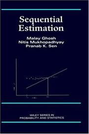 Cover of: Sequential estimation