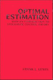 Cover of: Optimal estimation