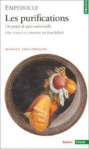 Cover of: Les purifications