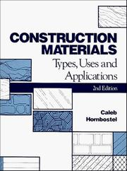 Cover of: Construction materials