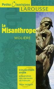 Cover of: Le misanthrope