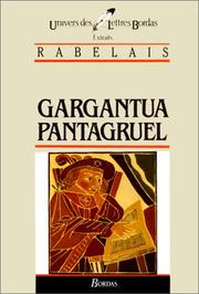 Cover of: Gargantua, Pantagruel