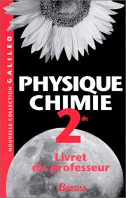 Cover of: Physique-chimie, seconde. Livret de professeur