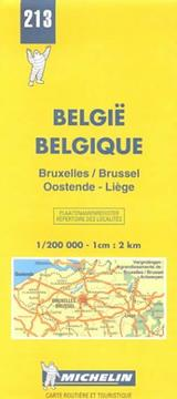 Michelin Brussels/Oostende/Liege, Belgium Map No. 213