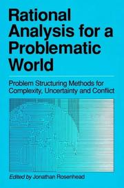 Cover of: Rational analysis for a problematic world |