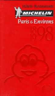 Cover of: Michelin Red Guide Paris & Environs 1998 | Michelin Travel Publications