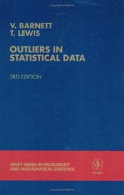 Cover of: Outliers in statistical data