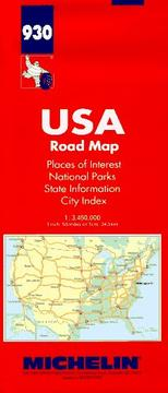 Cover of: Michelin USA Road Map, No 930 (Michelin Maps) | Michelin Travel Publications