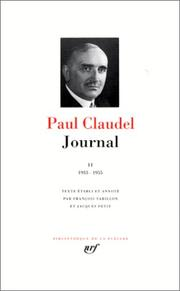 Cover of: Claudel