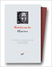 Cover of: Malebranche