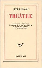 Cover of: Théâtre, tome 1
