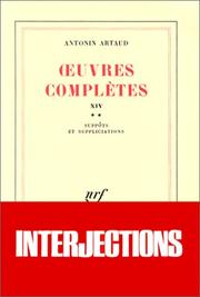 Cover of: Oeuvres complètes, tome 14
