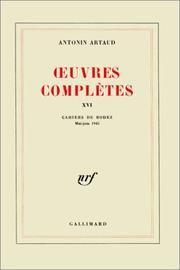 Cover of: Oeuvres complètes, tome 16