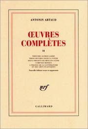 Cover of: Oeuvres complètes, tome 2
