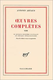 Cover of: Oeuvres complètes, tome 8
