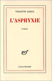 Cover of: L' asphyxie