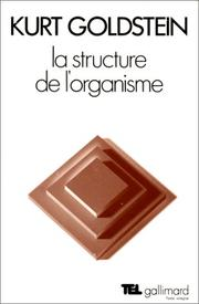 Cover of: La structure de l'organisme