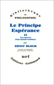 Cover of: Le principe espérance