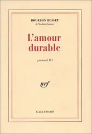 Cover of: L' Amour durable