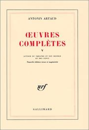 Cover of: Oeuvres complètes, tome 5