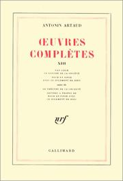 Cover of: Oeuvres complètes, tome 13