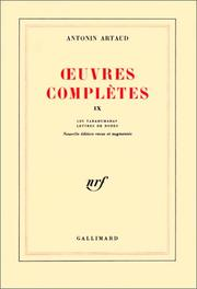 Cover of: Oeuvres complètes, tome IX