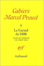 Cover of: Cahiers Marcel Proust, n°8