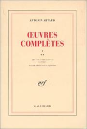 Cover of: Oeuvres complètes, tome 1, volume 2