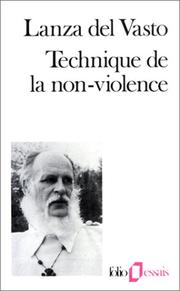 Cover of: Technique de la non-violence